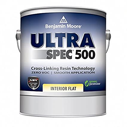 Benjamin Moore Ultra Spec 500 Interior Paint   Flat Finish (Gallon, White)