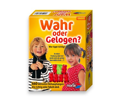 Noris Spiele 606013620 - Wahr oder Gelogen für Kinder, Kinderspiel