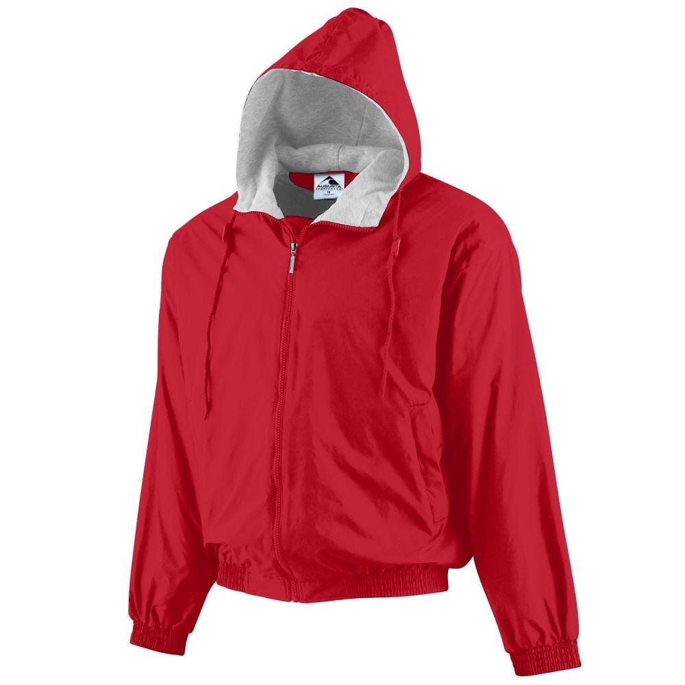 Augusta Sportswear Unisex-Adult Hooded Taffeta Jacket/Fleece Lined, Red, XX-Large by Augusta Sportswear
