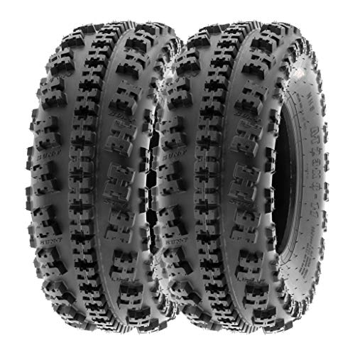 SunF 21x7-10 21x7x10 ATV UTV All Terrain Race Replacement 6 PR Tubeless Tires A027, [Set of 2]
