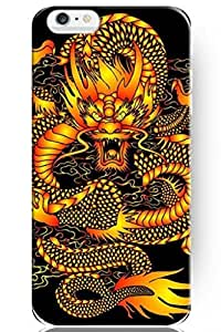 SPRAWL New Vintage Design Personalized Hard Plastic Snap on Slim Fit Iphone 6 Case 4.7 Inch Gold Dragon