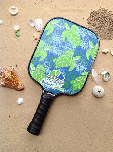Eastport Pickleball Paddle, USAPA Approved, Green Turtle on Blue Sea - Pickleball's Poshest Paddle by Eastport Pickleball