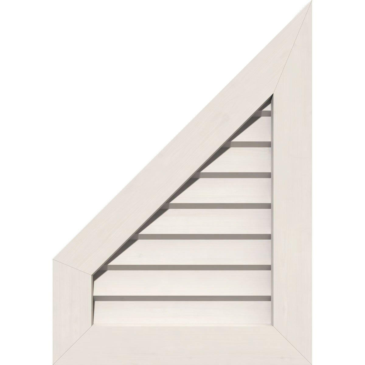 Ekena Millwork GVPPL12X1401DUN-12 Pac Gable Vent, 12'' W X 14'' H (17'' W X 19'' H Frame Size) 12/12 Pitch, White