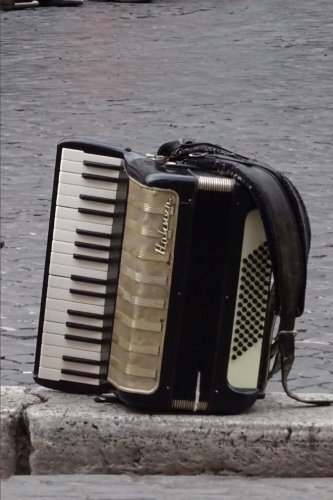 An Accordion on the Street Musical Instrument Journal: 150 Page Lined (Accordion Polka Music)