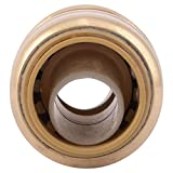 SharkBite 1/2-Inch Straight Coupling, Plumbing Fitting for Residential and Commercial Water Applications, Lead-Free