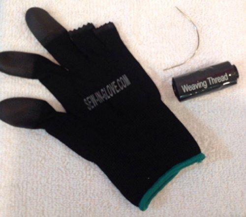 Flat Weave Heat Set - Ladies Sew-in-glove. Combo Set. Include 1 glove, 1 large needle , 1black weave thread