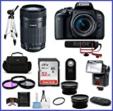 Cheap Canon EOS Rebel T7i DSLR Camera with 18-55mm Lens Video Creator Kit & Canon EF-S 55-250mm f/4-5.6 is STM Lens + Telephoto & Wide Angle Lenses + More