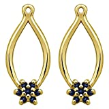 1/5 ct. Sapphire Genuine Sapphire Flower Earring Jackets in 14k Yellow Gold (0.22 ct. twt.)