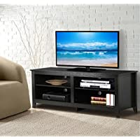World Pride 57 Modern Wood TV Stand Entertainment Center Media Console Cabinet Storage Cupboard for Flat Screen TVs Up to 60 Inch