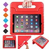 BFTOP Apple iPad 2 3 4 Kids Case - ShockProof Convertible Handle Light Weight Protective Stand Kids Case for iPad 4, iPad 3 and iPad 2 - Red