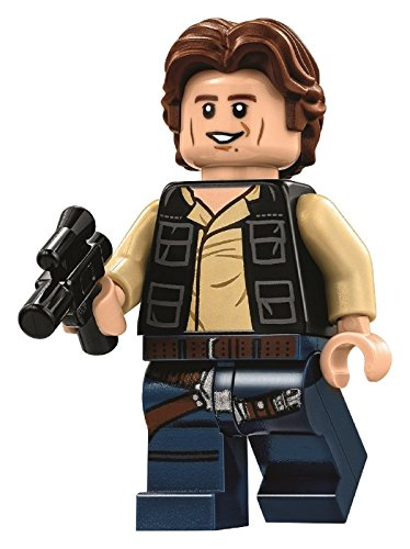 LEGO Star Wars Minifigure from Death Star - Han Solo Wavy Hair with Blaster (75159)]()