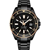 Stuhrling Original Black Mens Dive Watch -...