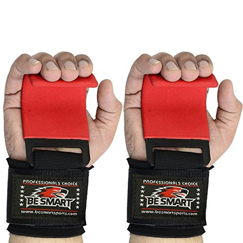 Be Smart Power Weight Lifting Training Gym Hook Grips Straps Wrist Support Lift