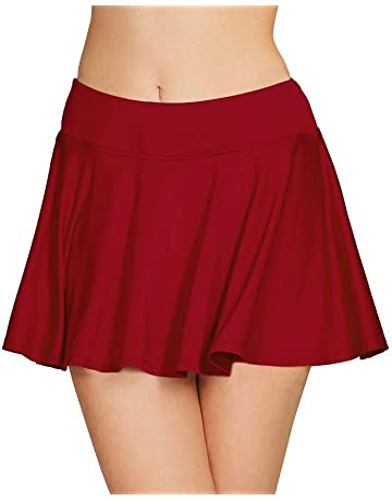760ebf976b Cityoung Women's Basic Stretchy Pleated Athletic Skirt Tennis Quick Dry  Active Skorts with Shorts Inner