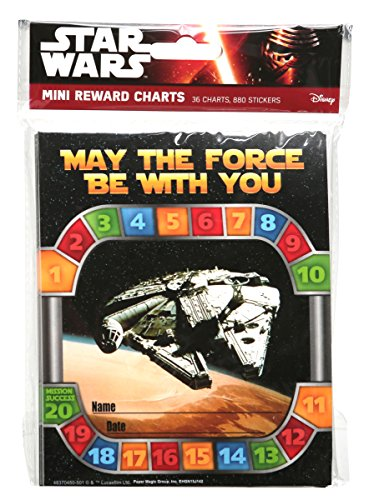 Eureka Back to School Star Wars 'May The Force be with You' Reward Charts for Kids with Stickers, 916pc, 5'' W x 6'' H