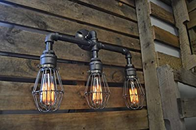West Ninth Vintage Iron Pipe Vanity Light