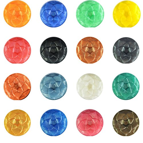 bMAKER 16 Mica Pigment Powder for Soap Making Supplies, Slime, Epoxy, DIY Soaps, Bath Bombs, Lotions, Shower Gels, Nail Polishes, Eye Shadow – A Sample Set of Beautiful Colorants.