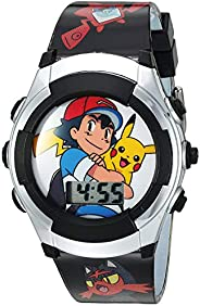 Pokémon Kids' Watch with Flashing LED Lights - Kids Digital Watch with Official Pokémon Characters on the