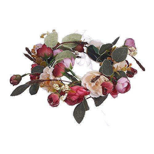 AWAYTR Bohemia Camellia Wedding Headpiece product image