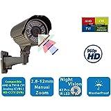 Evertech SONY 1.3 Megapixel Cmos Sensor 1200TVL Metal Weatherproof Night Vision 42 IR LED Indoor Outdoor Bullet Security Camera Day/Night with Adjustable Wide Angle 2.8-12mm Varifocal Lens