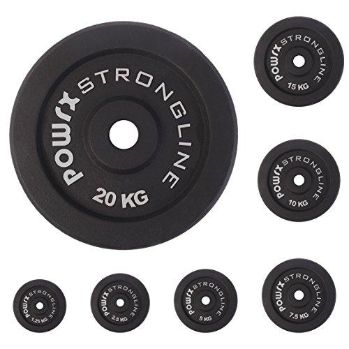 Gusseisen Hantelscheiben Hantel Gewichte Hanteln rundgeschliffen 30 mm Lochdurchmesser Guss Set 5 ,10, 15, 20, 30, 40 KG (2 x 15 kg)