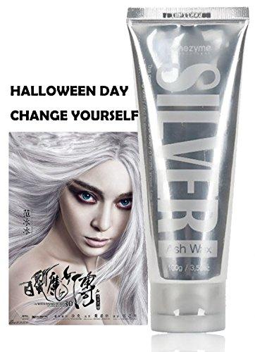 ASH Silver Grey Hair Wax, Professional Hair Pomades, Natural Silver Ash Matte Hairstyle Wax for Men Women 1PCS