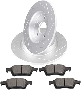 2005 2006 2007 2008 2009 Ford Mustang OE Replacement Rotors w//Ceramic Pads R