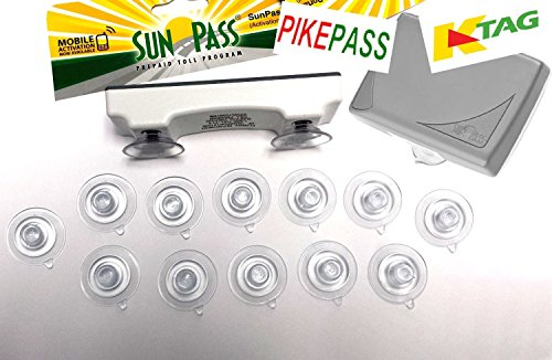 SunPass & PikePass & K-Tag Replacement Suction Cup. Fits Florida, Kansa & Oklahoma Toll Pass Shown in Photo. Suction Cups only, Toll Pass not included.