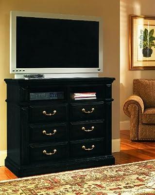 Progressive Furniture Torreon Media Chest, Antique Black