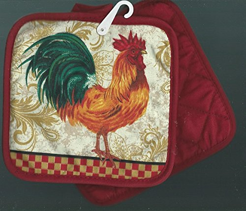 Pair Holders Potholders Rooster Tiles product image