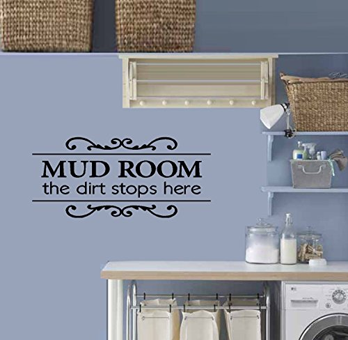Mudroom Laundry Room (MUD ROOM The Dirt Stops Here ~ Wall or Window Decal 12