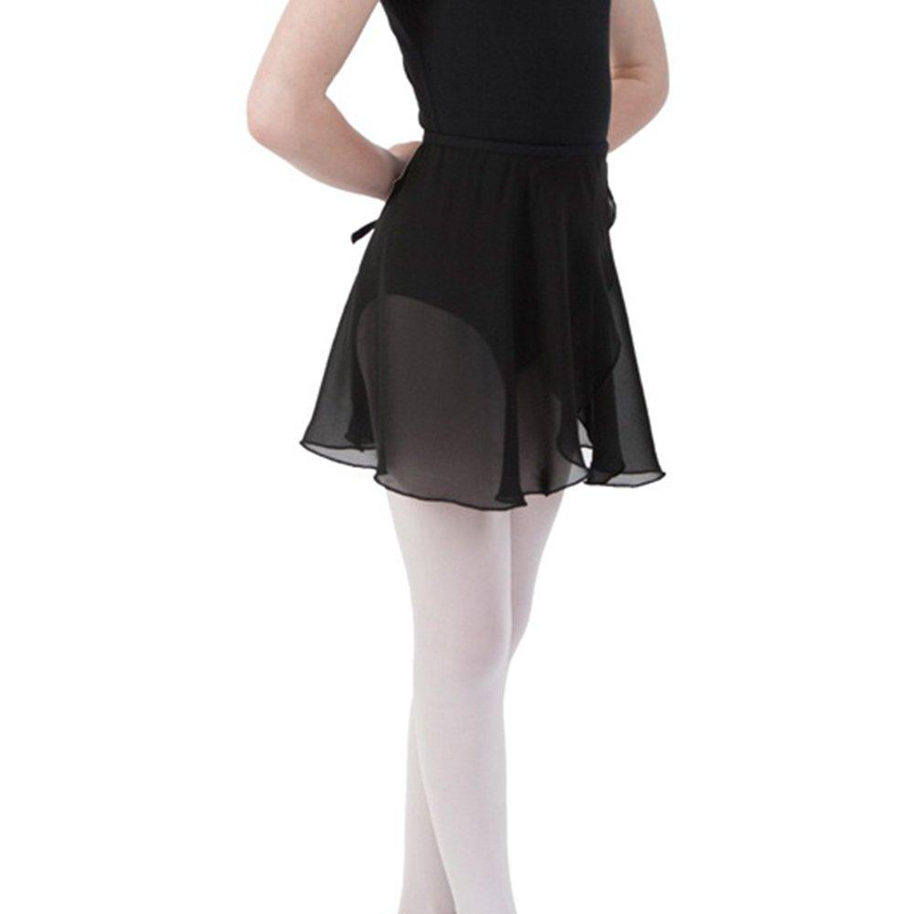 Bezioner Kinder Ballett Wickelrock Chiffon Damen Tanz Rock mit Taille Krawatte