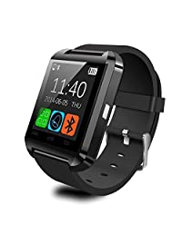 Ship From USA: 2015 Luxury Bluetooth Smart Watch Wrist Wrap Watch Phone for IOS and Android (Black)