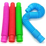 BunMo Pop Tubes Sensory Toys - Fine Motor Skills Toddler Toys - Fidget Toys for Sensory Kids and Learning Toys