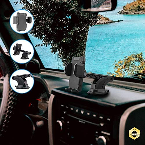 360 Degree Rotating Car Phone Holder Universal Car Cell Phone Holder for Samsung Saza Electronics S006 Universal Strong Suction Car Dashboard Phone Holder Nokia Huawei iPhone LG