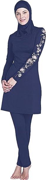 TALLA Asia 4X-Large EU-Talla 46-48. YEESAM - Bañador musulmán para mujer musulmán, traje de baño modesto, traje de baño para musulmanas, hijab desmontable