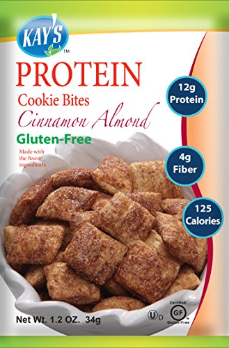 Almond Cinnamon Cookies (Kay's Naturals Protein Cookie Bites, Cinnamon Almond, Gluten-Free, 1.2 Ounce (Pack of 6))