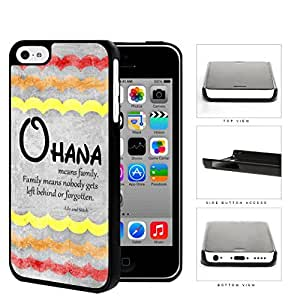 Ohana Means Family Red Color Tone Waves iPhone 5c Hard Snap on Plastic Cell Phone Cover