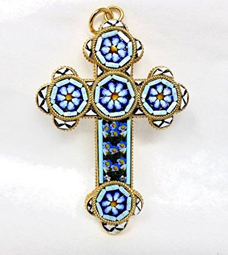 Dolce Glass Pendant (Authentic Florentine Glass Mosaic Cross, Medium)