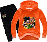 EUDOALH Youth Boys Dragon Ball z Hoodie and Sweatpants Pullover Suit 2 Piece Outfit Sweatshirt Set