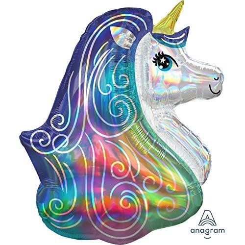 Mayflower Distributing Iridescent Rainbow Unicorn Shaped Jumbo 30