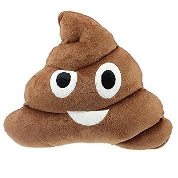 Amazon.com: Venta caliente divertido cojín Emoji Poo forma ...