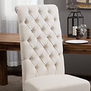 Amazon.com - Best Selling Natural Tall Tufted Dining Chair, 2-Pack ...