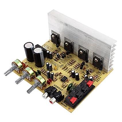 DealMux 60W + 60W 2 Channel Volume Control Knob Car Stereo Conselho Amplificador de Potência