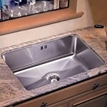 Just Manufacturing JCDGUXF-1824-A-R Single Bowl - Undermount -with Integra Overflow - Deep