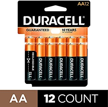 12-Count Duracell CopperTop AA Alkaline Batteries