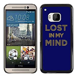 LECELL -- Funda protectora / Cubierta / Piel For HTC One M9 -- Lost In My Mind Typography --