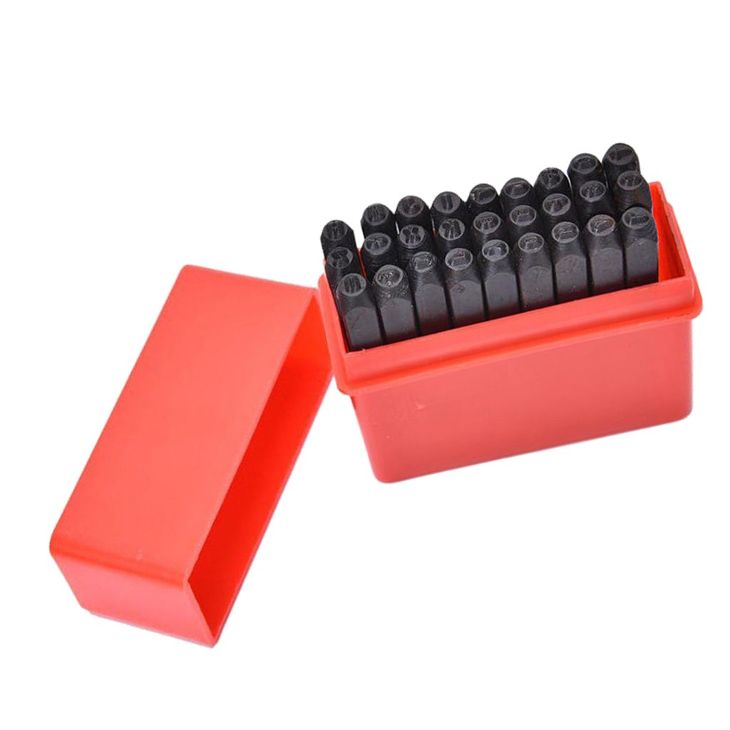 Baoblaze 3mm//4mm//5mm//6mm//10mm//12.5mm Stamps Letters Alphabet Numbers Set Punch Steel Metal Tool Craft Letter 3mm