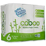 Caboo Tree Free Bamboo Paper Towels, 6 Rolls, Earth