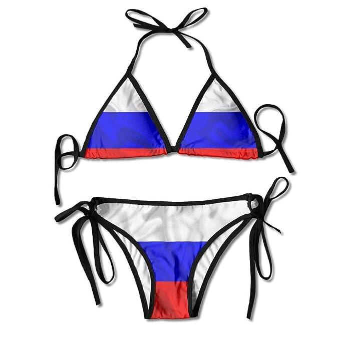 Seda De Rusa Las Mujeres Baño Traje Bandera Sexy Rusia A54qc3jSRL